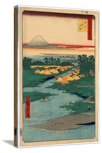 Horie Nekozane-Utagawa Hiroshige-Stretched Canvas Print
