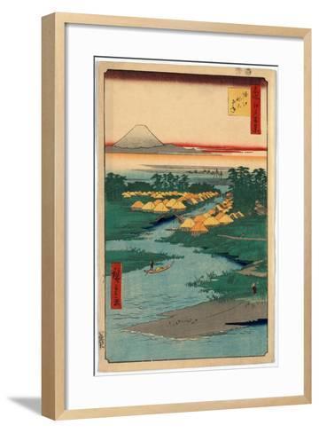Horie Nekozane-Utagawa Hiroshige-Framed Art Print