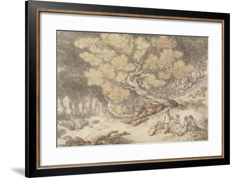 A Woodcutter's Picnic-Thomas Rowlandson-Framed Art Print