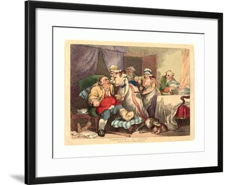 Comfort in the Gout, 1785, Hand-Colored Etching, Rosenwald Collection-Thomas Rowlandson-Framed Art Print