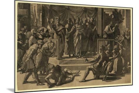 The Death of Ananias, Between 1515 and 1535-Ugo da Carpi-Mounted Giclee Print