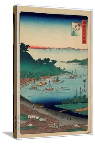 Echigo Niigata No Kei-Utagawa Hiroshige-Stretched Canvas Print