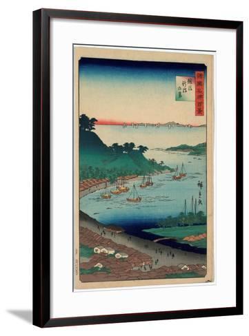 Echigo Niigata No Kei-Utagawa Hiroshige-Framed Art Print