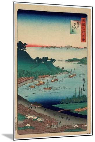 Echigo Niigata No Kei-Utagawa Hiroshige-Mounted Giclee Print
