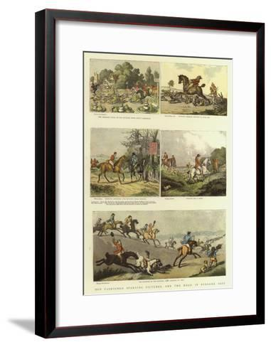 Old Fashioned Sporting Pictures, and the Road in Byegone Days-Thomas Rowlandson-Framed Art Print