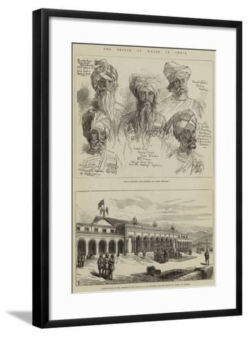 The Prince of Wales in India-Thomas W. Wood-Framed Art Print