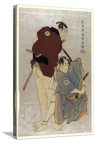 Sandaime Otani Oniji Shodai Ichikawa Omezo-Toshusai Sharaku-Stretched Canvas Print