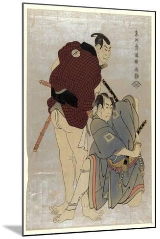 Sandaime Otani Oniji Shodai Ichikawa Omezo-Toshusai Sharaku-Mounted Giclee Print