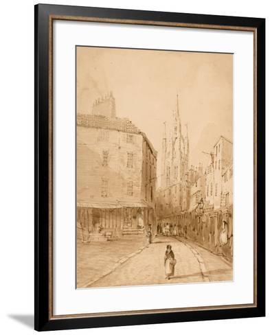Castle Garth, Newcastle Upon Tyne-Thomas Miles Richardson-Framed Art Print