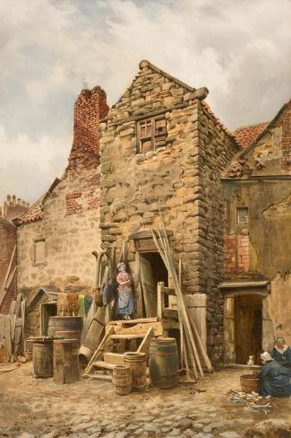 Old Sparrow Hall, Cullercoats-Thomas Miles Richardson-Stretched Canvas Print