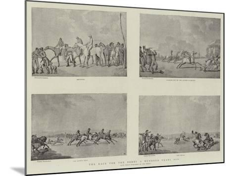 The Race for the Derby a Hundred Years Ago-Thomas Rowlandson-Mounted Giclee Print