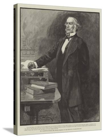Mr Gladstone Moving the Second Reading of the Religious Disabilities Bill-Thomas Walter Wilson-Stretched Canvas Print