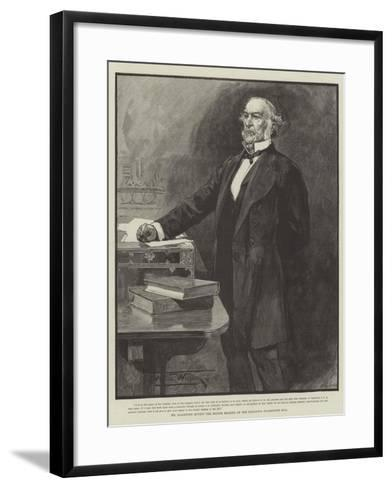 Mr Gladstone Moving the Second Reading of the Religious Disabilities Bill-Thomas Walter Wilson-Framed Art Print