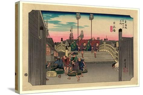 Nihonbashi-Utagawa Hiroshige-Stretched Canvas Print