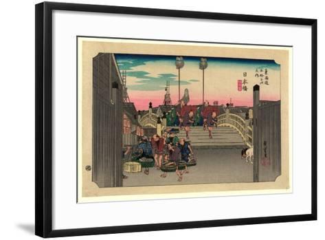 Nihonbashi-Utagawa Hiroshige-Framed Art Print
