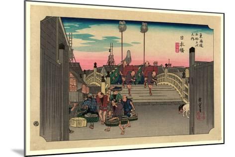 Nihonbashi-Utagawa Hiroshige-Mounted Giclee Print
