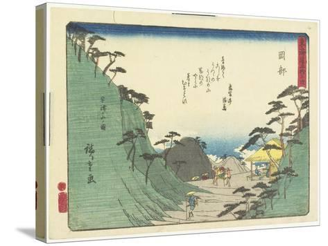 Okabe, 1837-1844-Utagawa Hiroshige-Stretched Canvas Print
