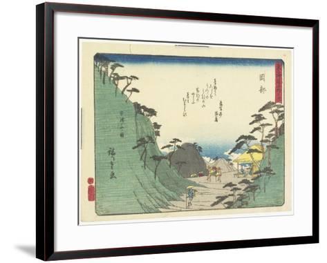 Okabe, 1837-1844-Utagawa Hiroshige-Framed Art Print