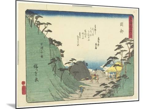 Okabe, 1837-1844-Utagawa Hiroshige-Mounted Giclee Print
