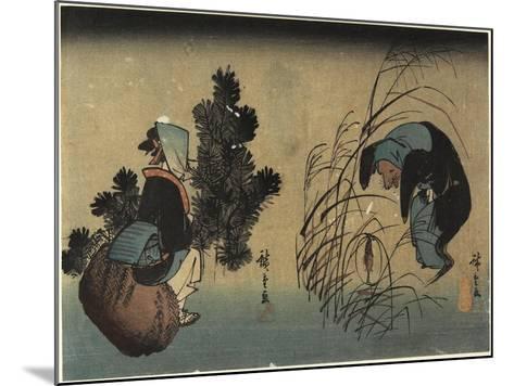 Woman and Badger-Utagawa Hiroshige-Mounted Giclee Print