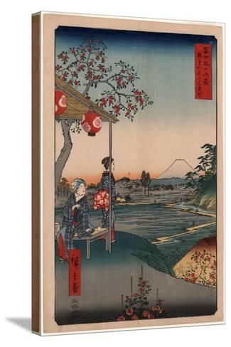Zoushigaya Fujimi Chaya-Utagawa Hiroshige-Stretched Canvas Print