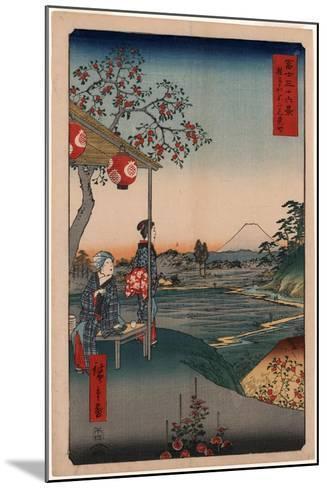 Zoushigaya Fujimi Chaya-Utagawa Hiroshige-Mounted Giclee Print