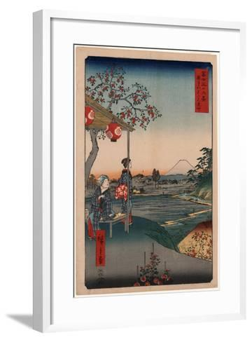 Zoushigaya Fujimi Chaya-Utagawa Hiroshige-Framed Art Print