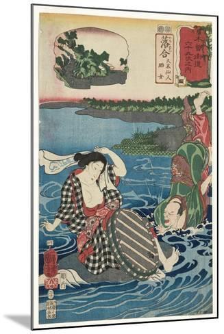 Ochiai: Kume Sennin and the Laundress, 1852-Utagawa Kuniyoshi-Mounted Giclee Print