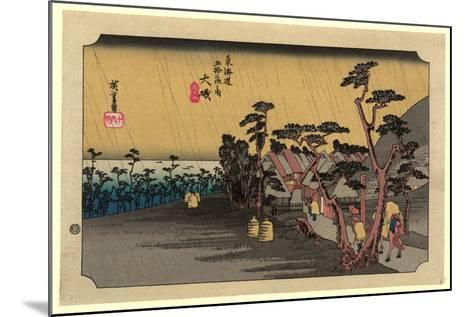 Oiso-Utagawa Hiroshige-Mounted Giclee Print
