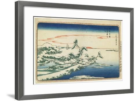 New Year's Day Sunrise at Susaki in Snow, C. 1831-Utagawa Hiroshige-Framed Art Print