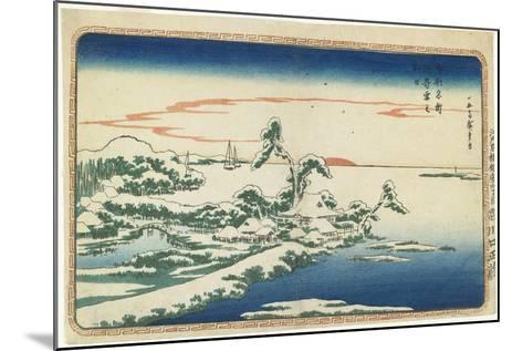 New Year's Day Sunrise at Susaki in Snow, C. 1831-Utagawa Hiroshige-Mounted Giclee Print