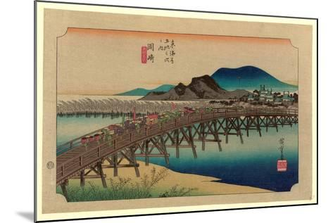 Okazaki-Utagawa Hiroshige-Mounted Giclee Print