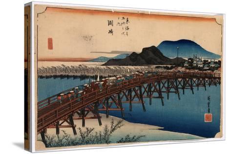 Okazaki-Utagawa Hiroshige-Stretched Canvas Print