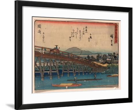 Okazaki-Utagawa Hiroshige-Framed Art Print