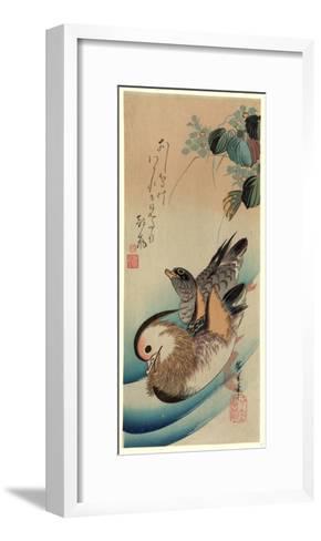Oshidori-Utagawa Hiroshige-Framed Art Print