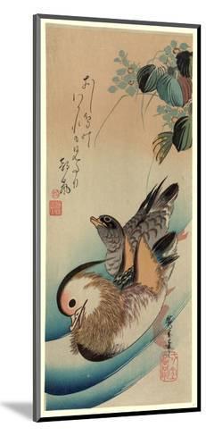 Oshidori-Utagawa Hiroshige-Mounted Giclee Print