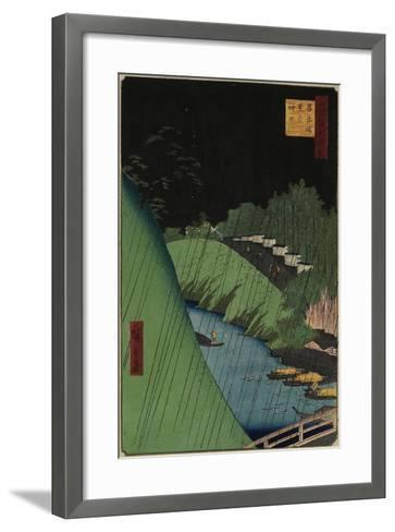 The Temple of Confucius Near the Shohei Bridbe over the Kanda River, September 1857-Utagawa Hiroshige-Framed Art Print