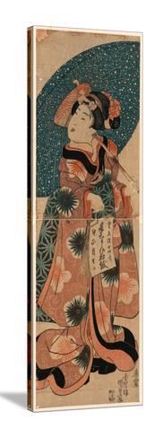 Tenaraicho O Motsu Musume-Utagawa Kunisada-Stretched Canvas Print