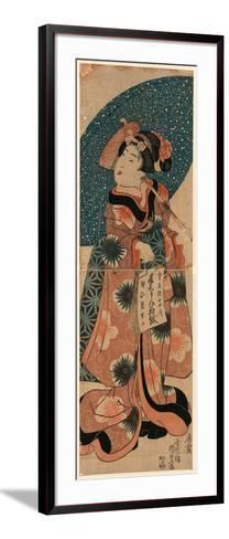 Tenaraicho O Motsu Musume-Utagawa Kunisada-Framed Art Print