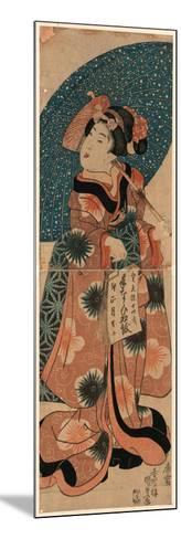 Tenaraicho O Motsu Musume-Utagawa Kunisada-Mounted Giclee Print