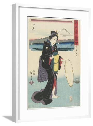 No.19: Ejiri, 1847-1852-Utagawa Hiroshige-Framed Art Print