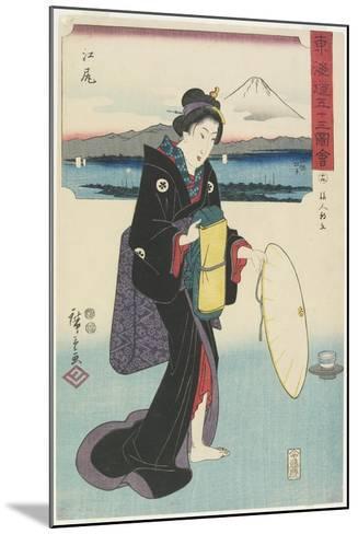 No.19: Ejiri, 1847-1852-Utagawa Hiroshige-Mounted Giclee Print