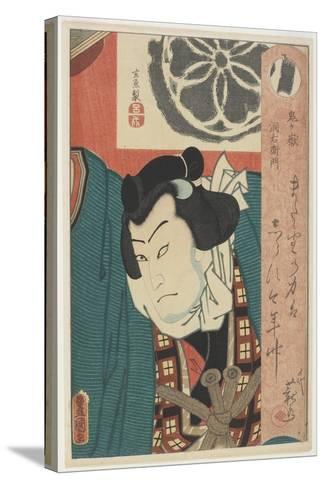 The Sumo Wrestler Onigatake Toemon, C. 1850-Utagawa Kunisada-Stretched Canvas Print
