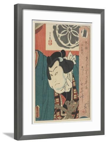 The Sumo Wrestler Onigatake Toemon, C. 1850-Utagawa Kunisada-Framed Art Print