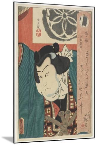 The Sumo Wrestler Onigatake Toemon, C. 1850-Utagawa Kunisada-Mounted Giclee Print
