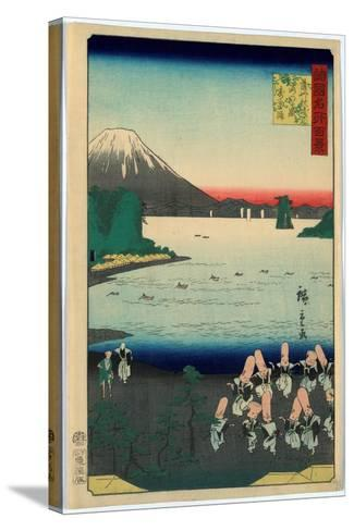 Sasshu Makurazaki Kaimongadake Jusei Odori-Utagawa Hiroshige-Stretched Canvas Print
