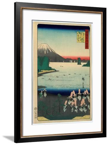 Sasshu Makurazaki Kaimongadake Jusei Odori-Utagawa Hiroshige-Framed Art Print