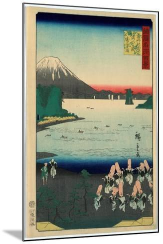 Sasshu Makurazaki Kaimongadake Jusei Odori-Utagawa Hiroshige-Mounted Giclee Print