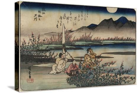 Jewel River of Noji in Omi Province, 1835-1837-Utagawa Hiroshige-Stretched Canvas Print
