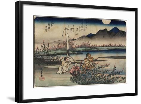 Jewel River of Noji in Omi Province, 1835-1837-Utagawa Hiroshige-Framed Art Print